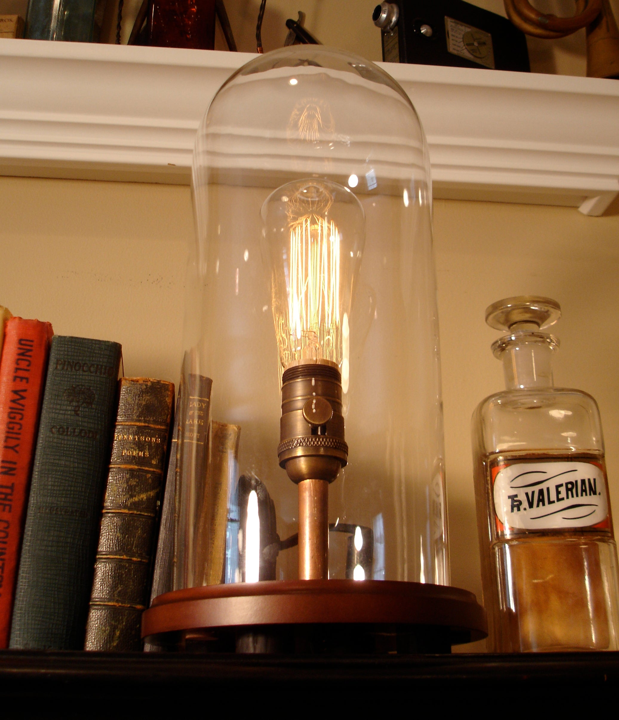 Glass Edison Lamp Glass Dome Edison Lamp