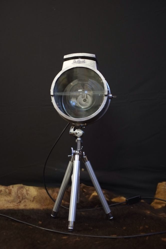 Table Lamp Tripod Vintage Bullfinch Spotlight / Utilate