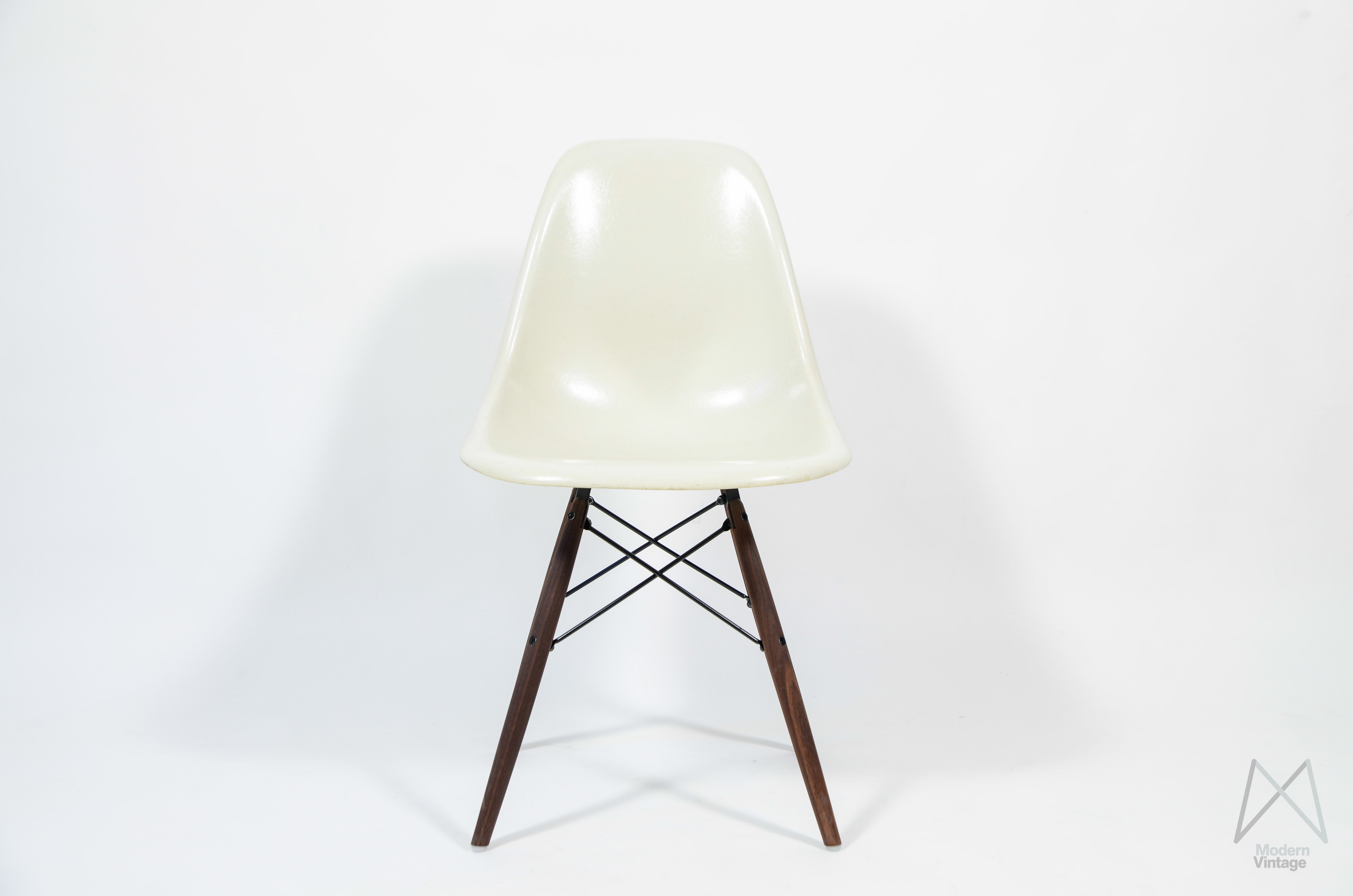Vitra Lounge Chair Tweedehands Eames Herman Miller Vitra Dsw Off White Parchment Original Stoel