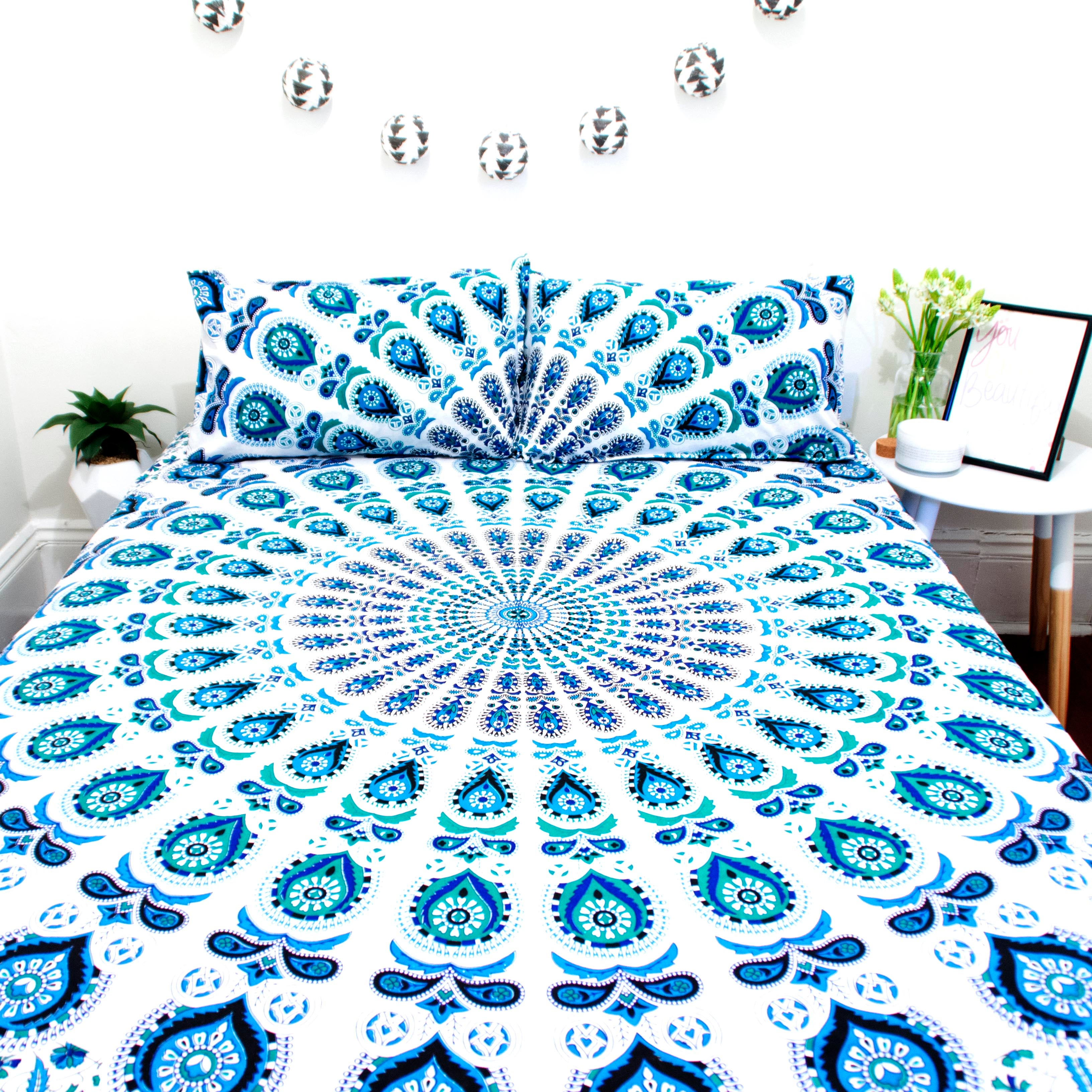 Boho Bedding Australia Blue And Teal Doona Set Marked Down From 110 Now