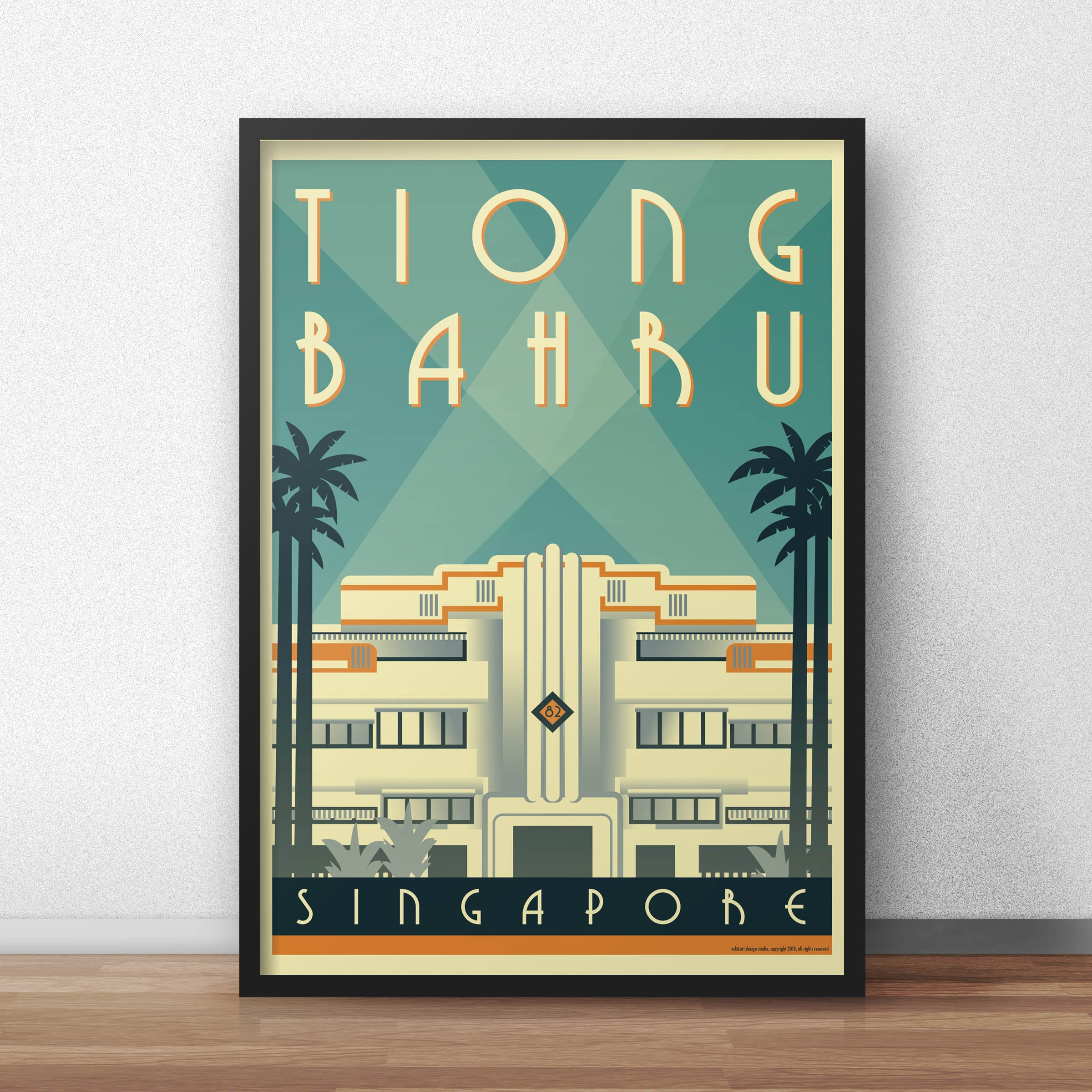 Deco Poster Tiong Bahru Art Deco Poster