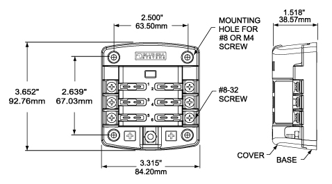 ST Blade Fuse Block - 6 Circuits with Cover - FAQ - Blue Sea Systems