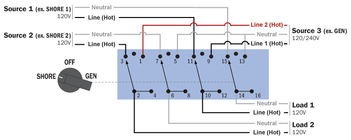 position selector switch schematic diagram