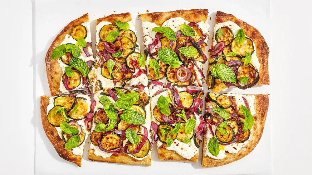 Caramelized Zucchini Flatbread Recipe Bon Appetit