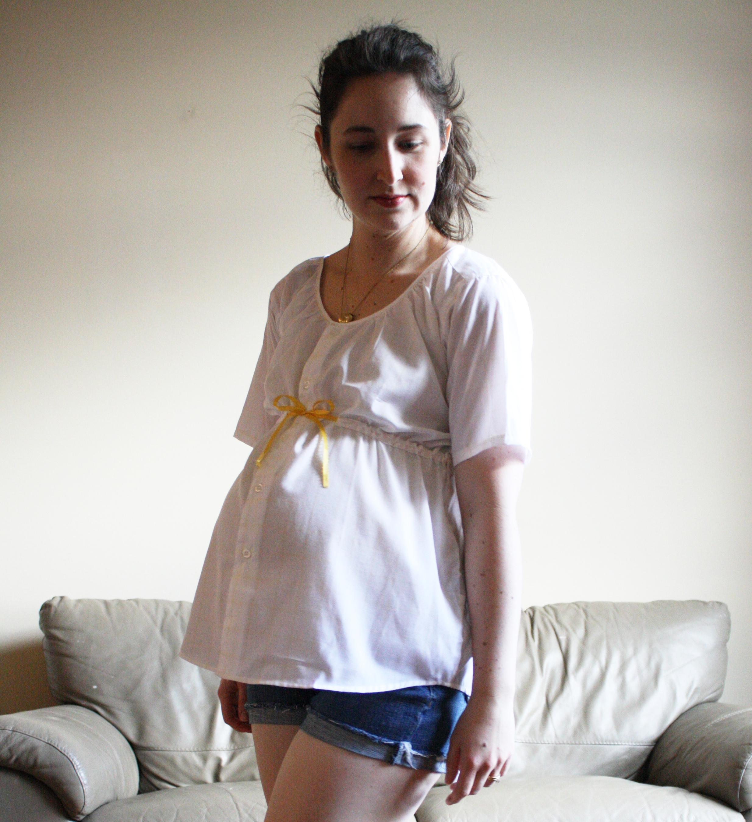 Diy Maternity Clothes Peasant Maternity Top From Mens Shirt Sewing Projects