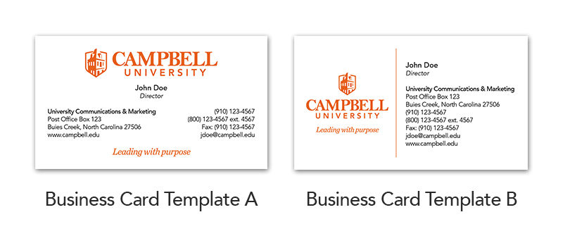 Business Cards Brand Campbell University
