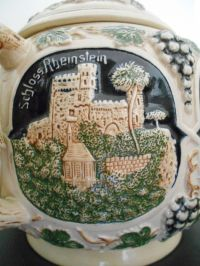 Gerz (?) - Punch bowl with castles and bacchus decorations ...