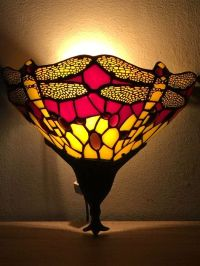 Tiffany style dragonfly wall lamp - Catawiki