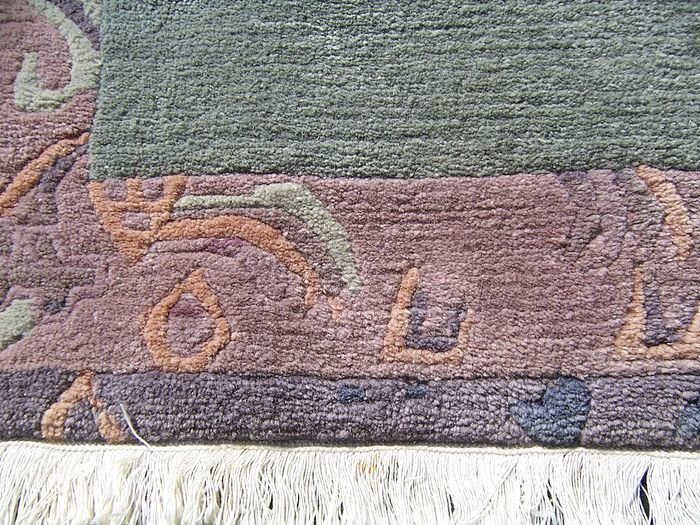 Nepalese Handmade Woolen Carpet Nepal 20th Century