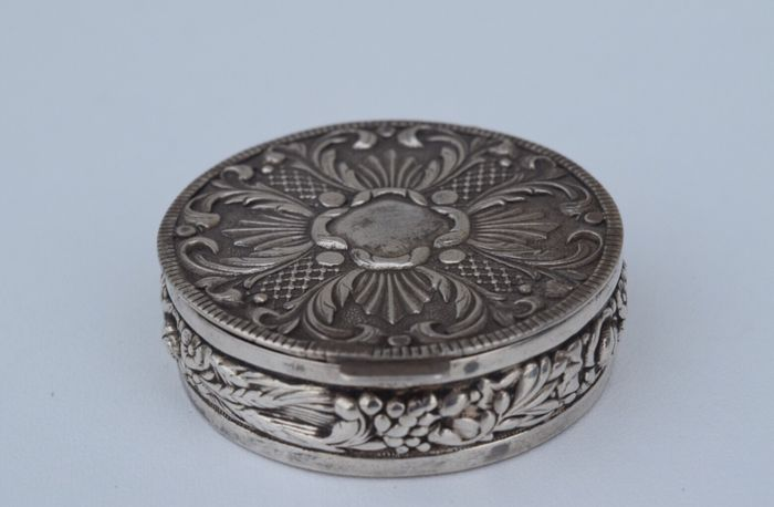 Silver Pill Box With Gilded Interior Catawiki