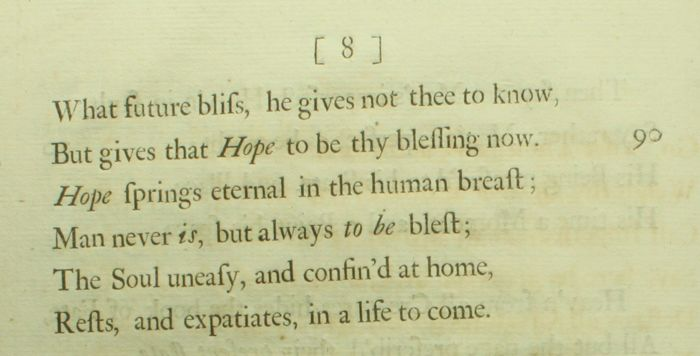 Alexander Pope - An Essay On Man - All 4 epistles \u2013 1733/1734 - Catawiki - know then thyself presume not god to scan