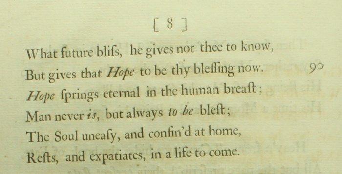 Alexander Pope - An Essay On Man - All 4 epistles \u2013 1733/1734 - Catawiki