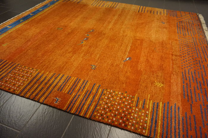 Hand Knotted Carpet Gabbeh Nomads39 Work Carpet Wool On