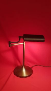 Brass adjustable desk lamp/bankers lamp