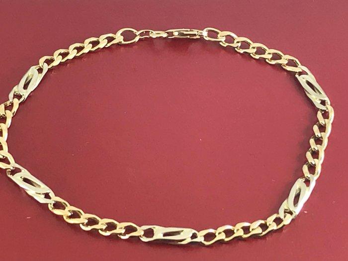 Mens 18k Gold Fancy Bracelet Size 225 Cm Length Catawiki