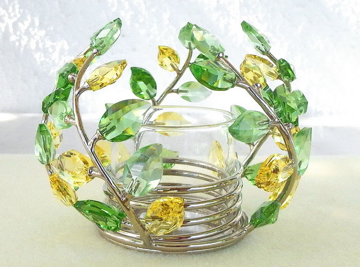 Swarovski Centerpiece Crystal Leaves Tea Light Catawiki