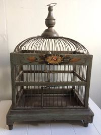 Old. decorated bird cage - Catawiki