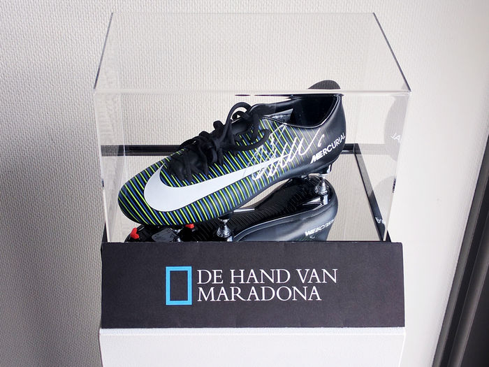 Cristiano Ronaldo Signed Nike Football Boot In Display