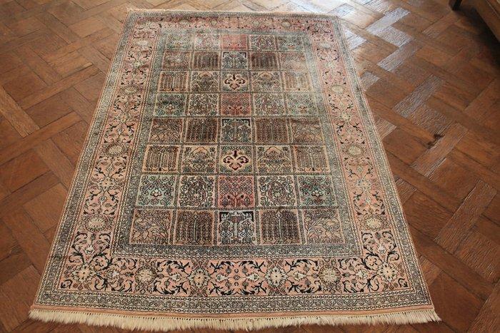 A Magnificent Handwoven Silk Carpet Cashmere Silk Qom