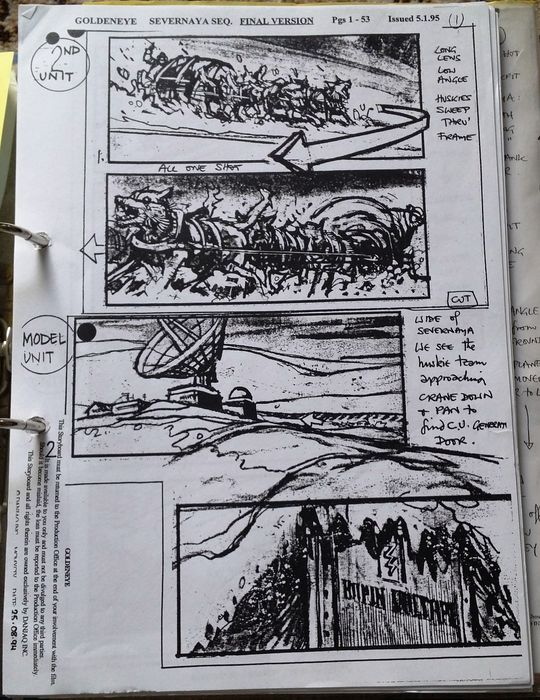 Very Rare James Bond Goldeneye Script and Storyboard - Catawiki - script storyboard