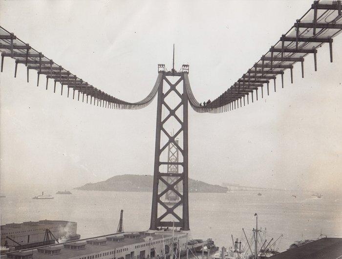 Unknown/Acme News - Golden Gate bridge under construction - San Francisco -  1935 - Catawiki