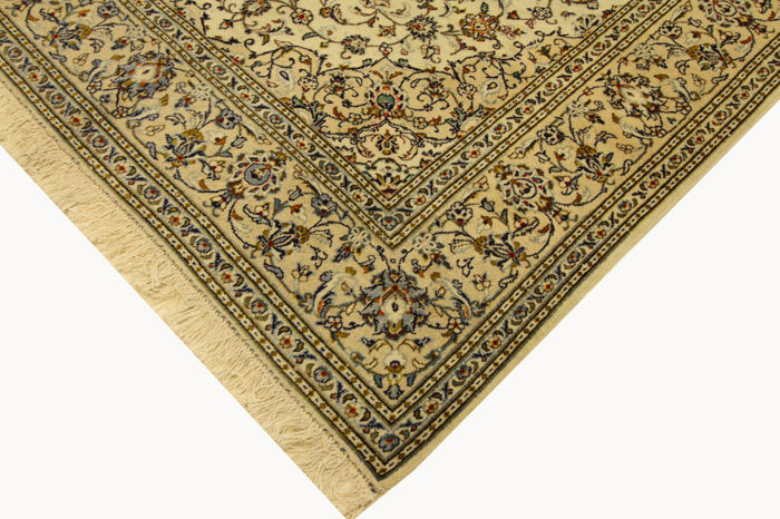 Fine Persian Carpet Kashan 290 X 195 Cream Hand Knotted