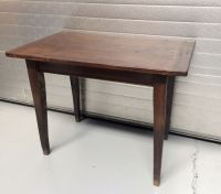 Hardwood kitchen table with drawer, first half of 20th ...