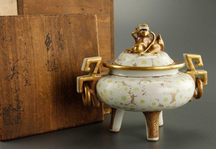 Fine Kutani Porcelain Koro Incense Burner Marked With