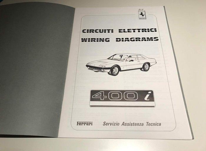 Brochures / catalogues - Ferrari 400i Wiring Diagrams - Technical