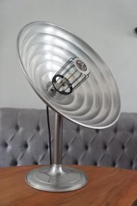 Huza lamp - upcycled German heat lamp, mid 20th century ...