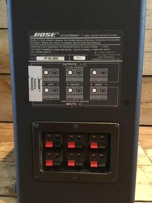 Bose Red Line Acoustimass 7 + Bose rotatable twin speakers with wall