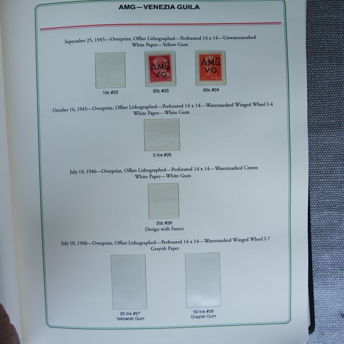 Julian March AMG-VG 1945/1947 - Collection textbook on album with