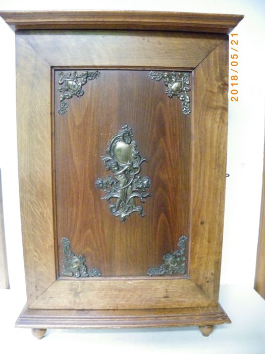 A Miniature French Linen Cabinet With Baroque Copper