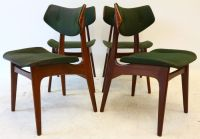 Manufacturer unknown - Four teak chairs with curved ...