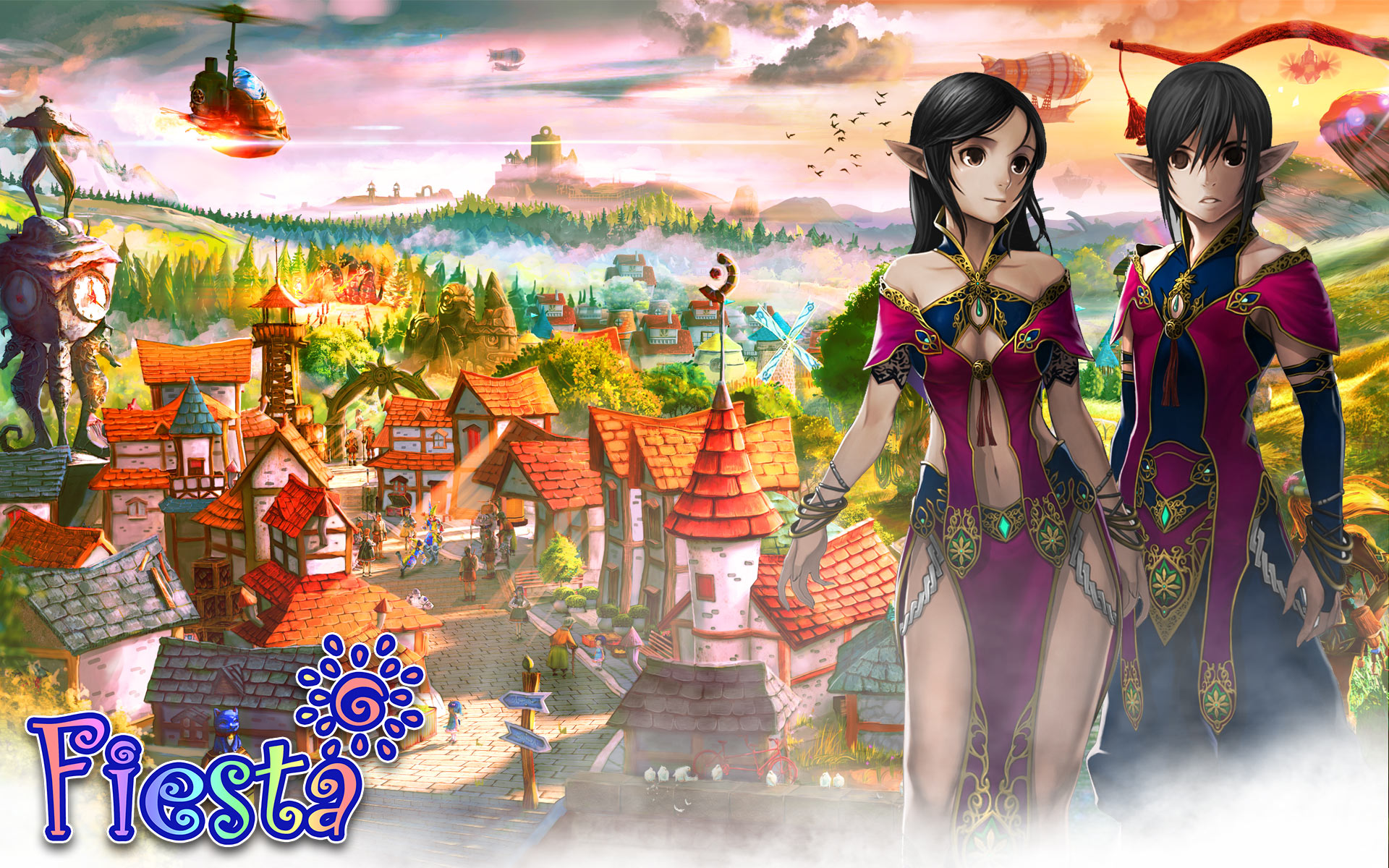 Welcome 3d Wallpaper Media Trailers Fiesta Online 3d Anime Mmorpg