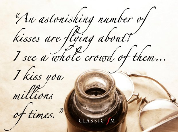 Heart-breaking quotations from the great composers\u0027 love letters - love letter