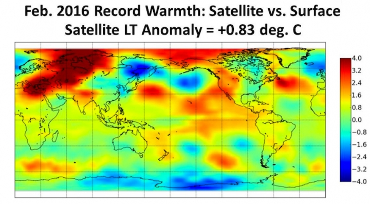 What To Know About February\u0027s Satellite Temp Record Climate Central
