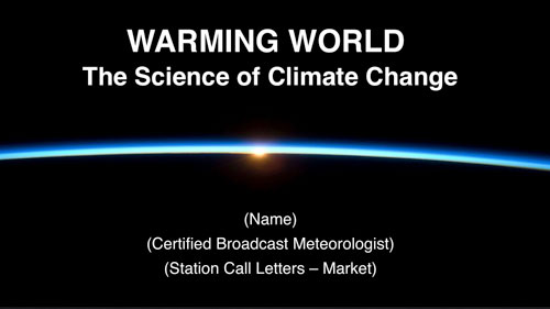 Warming World The Science of Climate Change \u2013 Outreach Presentation