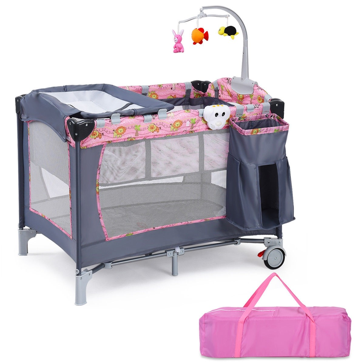 Baby Playpen How Foldable 2 Color Baby Crib Playpen Playard