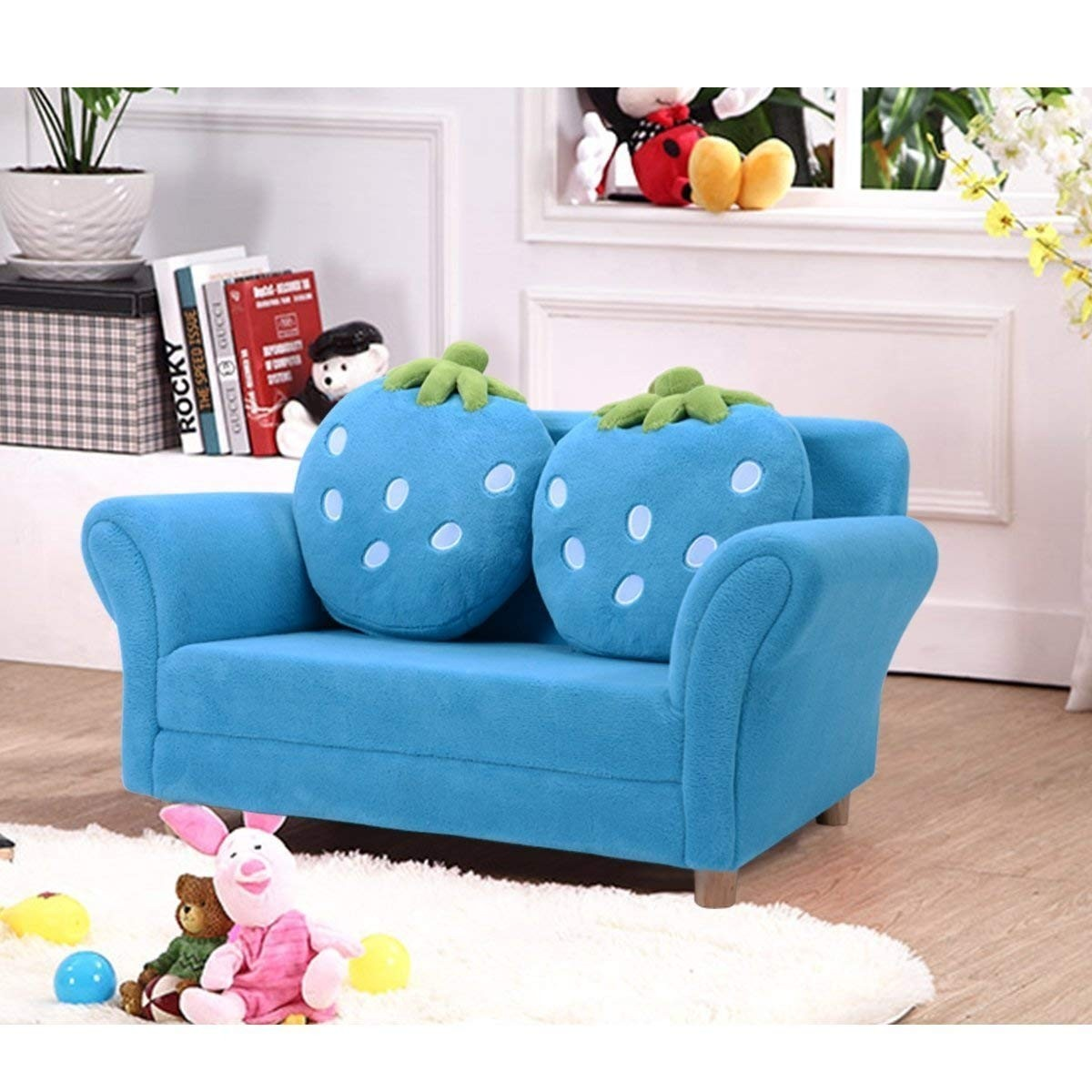 Bl Pi Kids Strawberry Armrest Chair Sofa Sofas Furniture