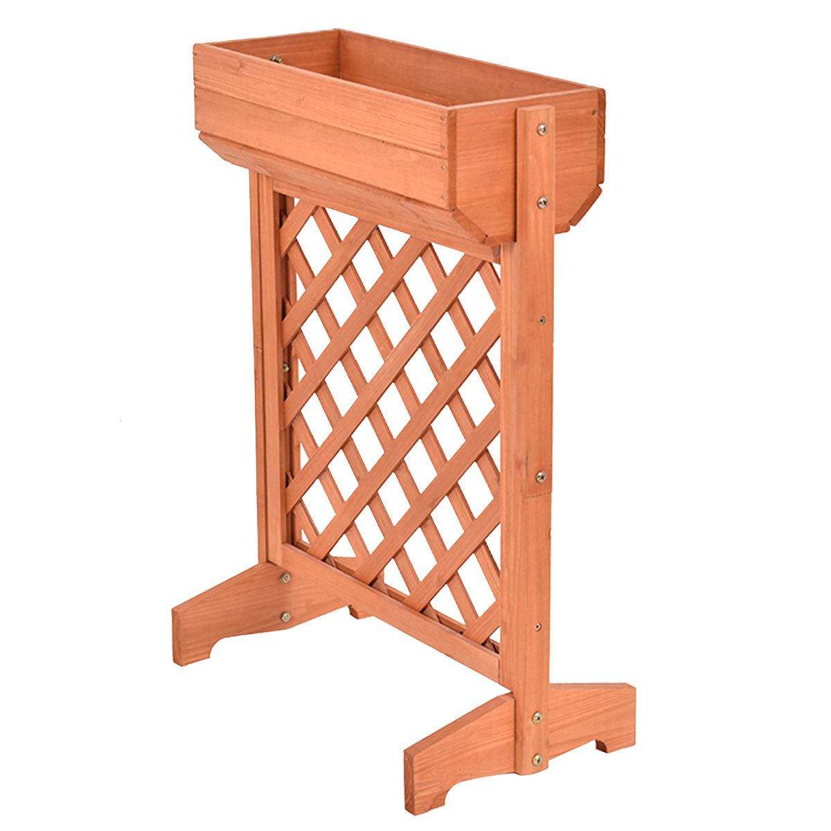 Elevated Plant Stands Garden Fir Wood Raised Bed Planter Stand