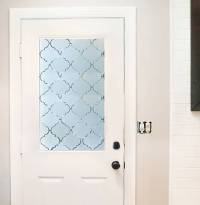 How to 'Frost' a Window with Contact Paper  Curbly | DIY ...