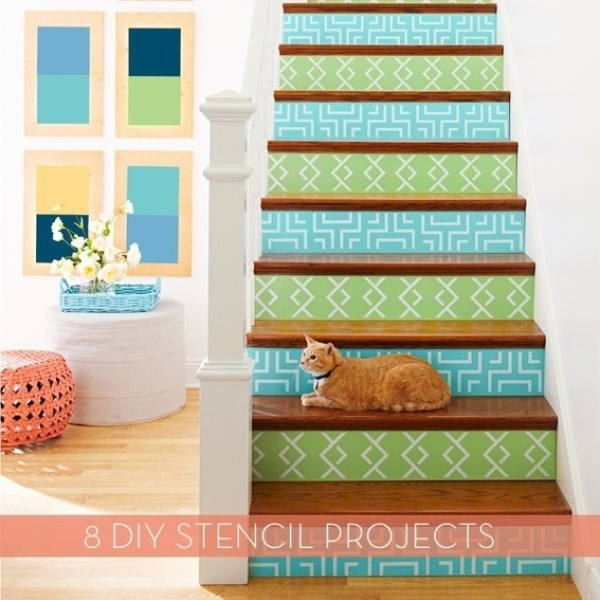stenciling ideas for stairs