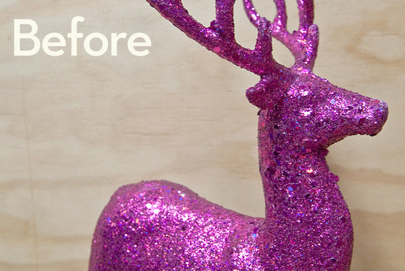 Ikea Gift Card How To: Give A Gaudy Glitter Reindeer A Classy Papier
