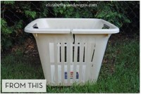 How to Turn an Old Laundry Basket into a New Big Planter ...