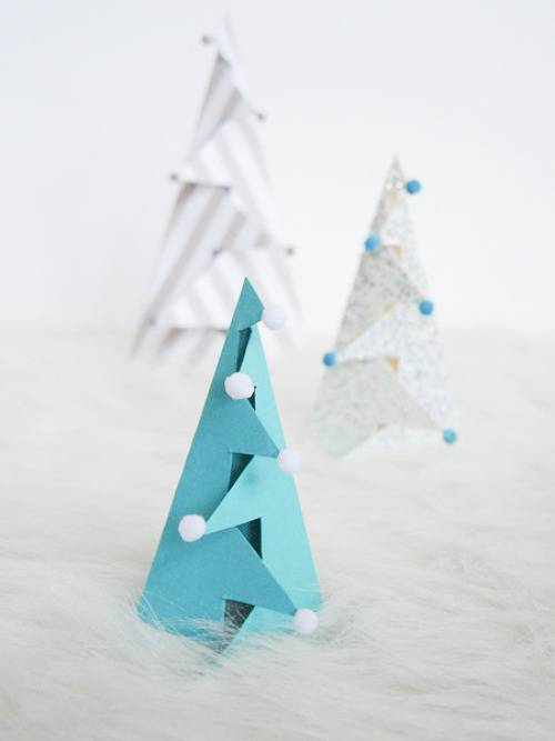 Ikea Gift Card How To: Make Standing, Folded Paper Christmas Trees