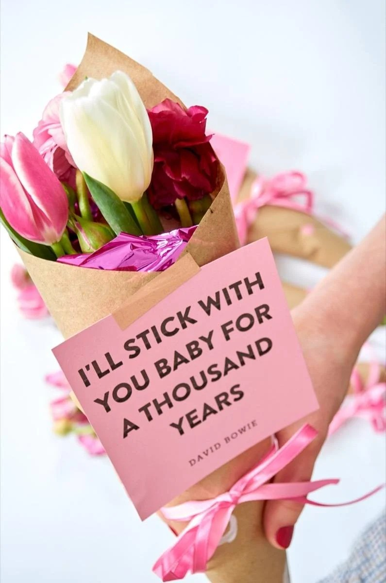 Ikea Gift Card Diy Valentine Bouquet Wraps + Printable Love Quotes