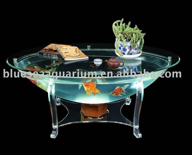 Dining Table: Fish Tank Dining Table