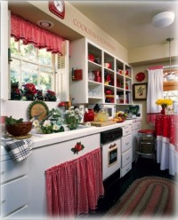 Interior And Decorating Idea For Red Kitchen Themes ...