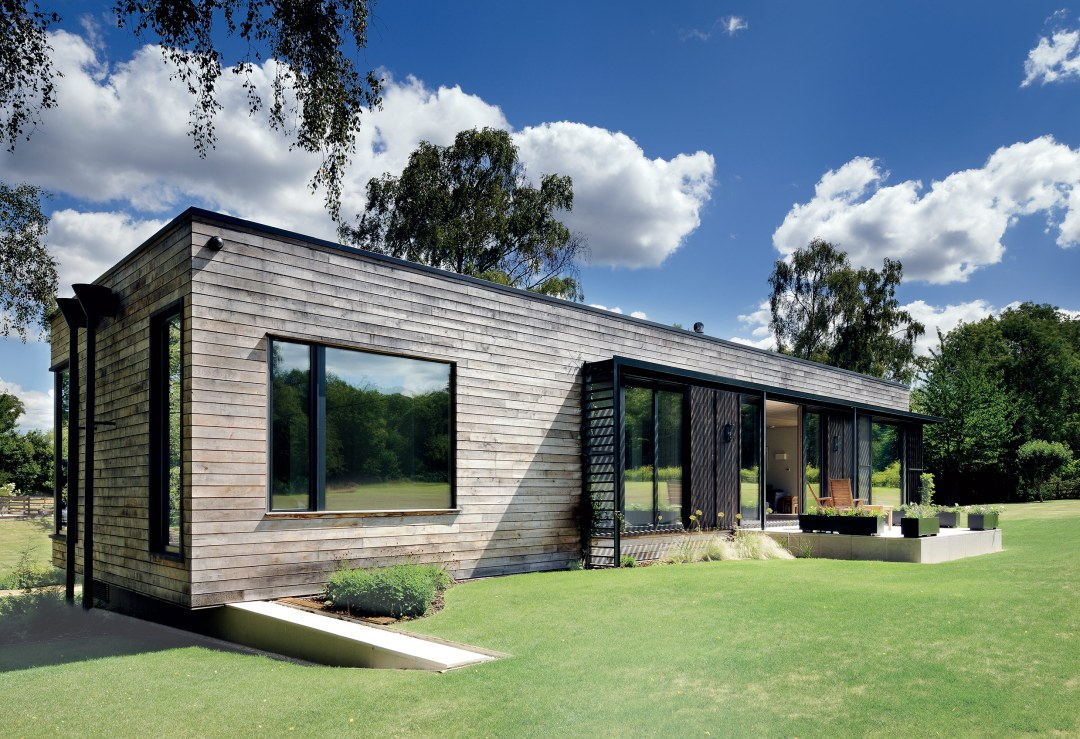 The home that arrived by crane pbg construction l l c - Mobile home modern design ...